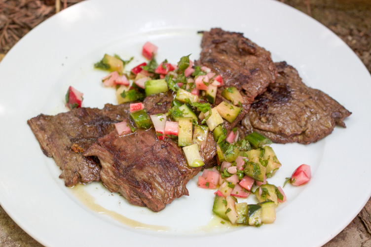 Paleo Skirt Steak with Radish & Cucumber Salsa