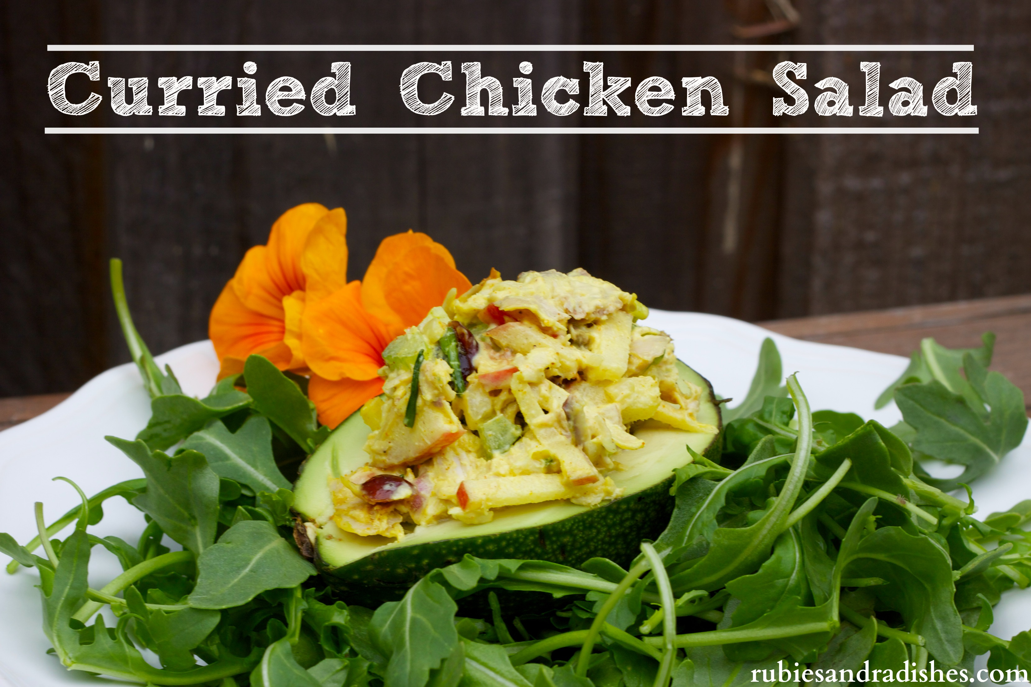 Curried Chicken Salad Recipe... Party Size! - Rubies & Radishes