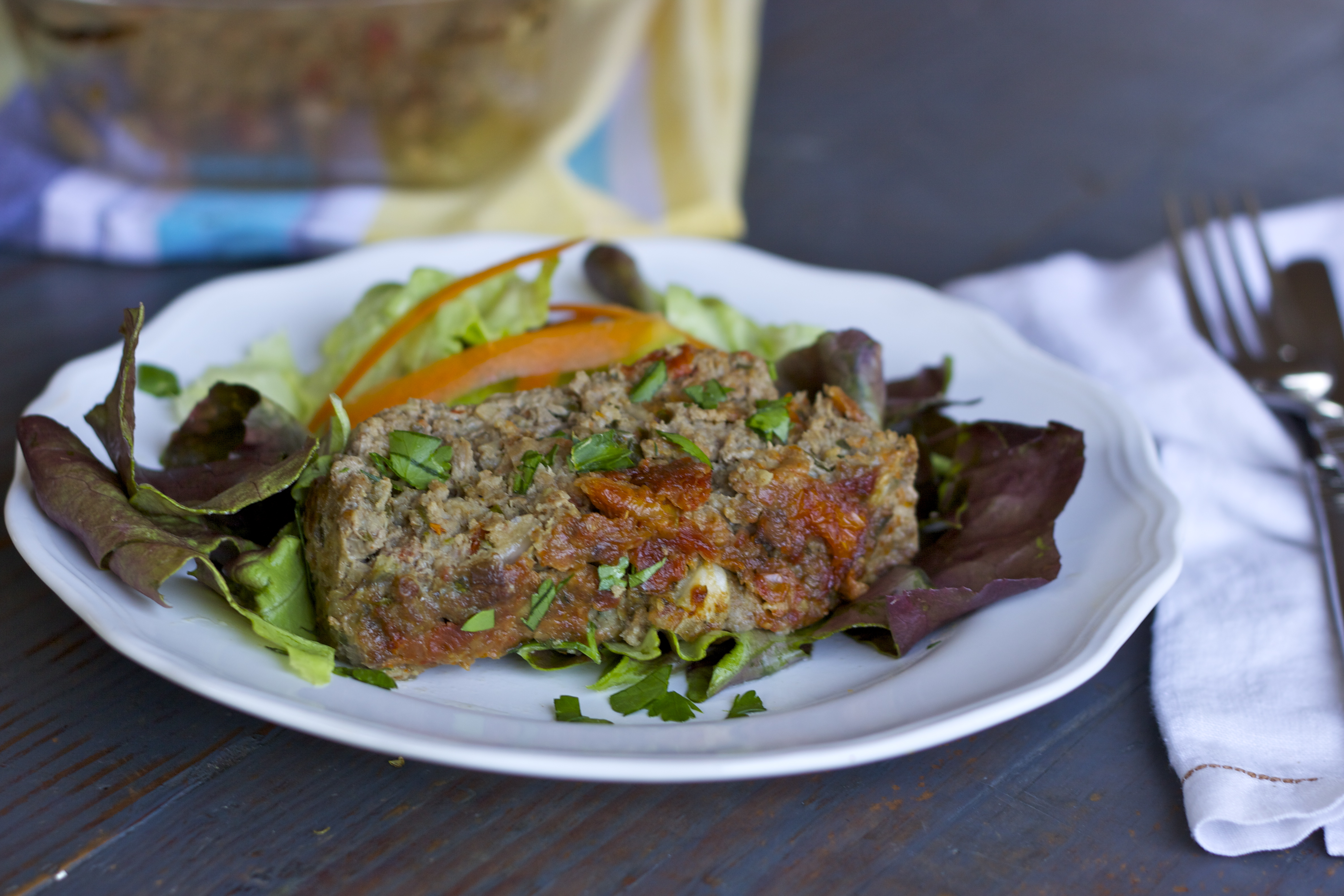 Sun-dried Tomato and Mushroom Meatloaf from rubiesandradishes.com #paleo