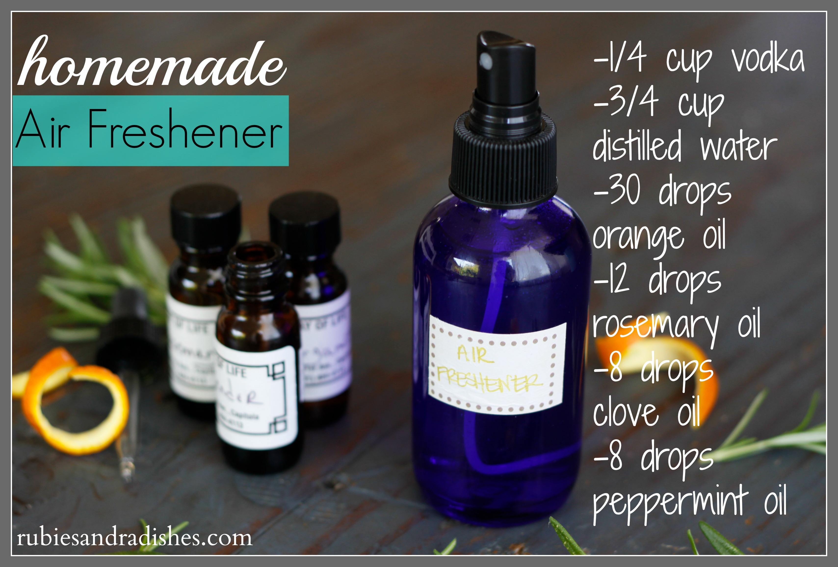 Homemade Air-Freshener // rubiesandradishes.com