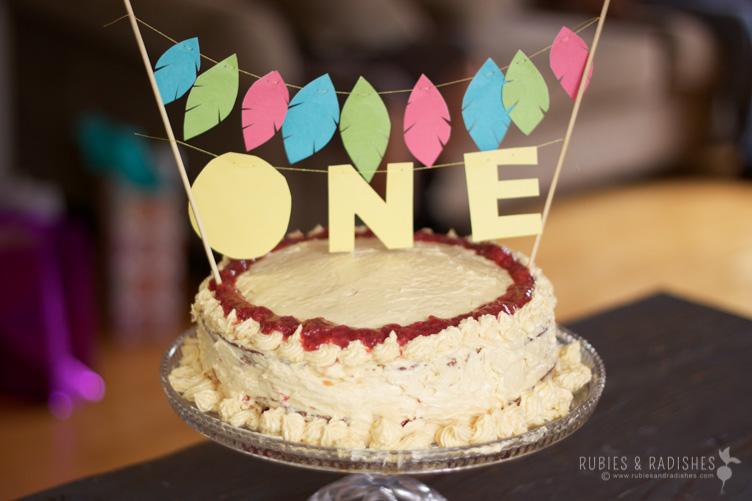 paleo baby birthday cake