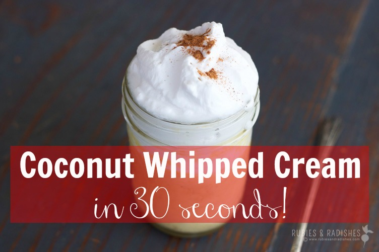 coconut whipped cream in 30 seconds