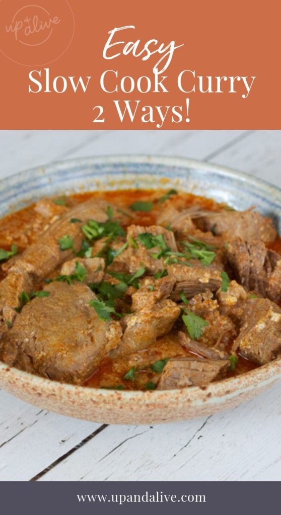 easy slow cook curry 2 ways