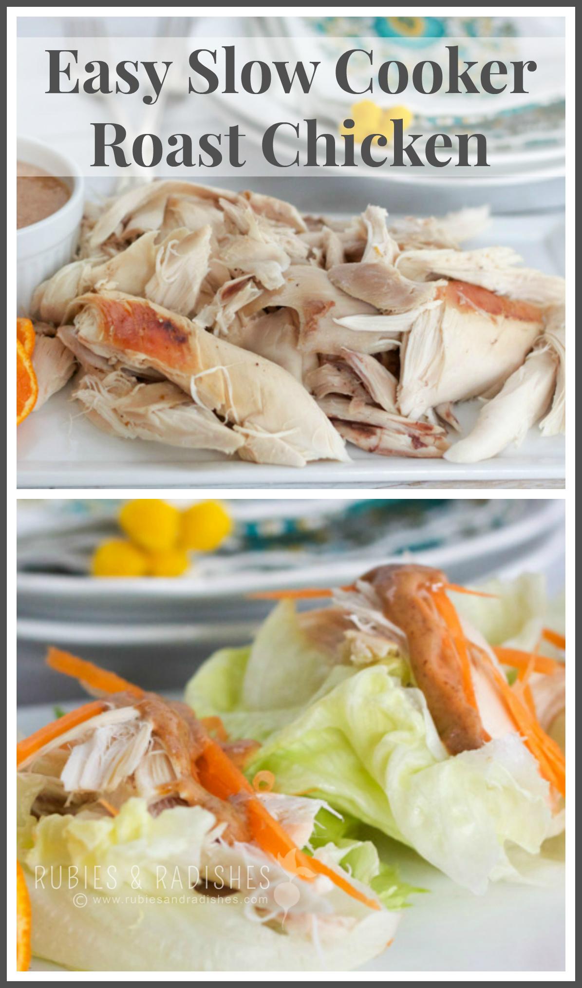 Easy Slow Cooker Roast Chicken