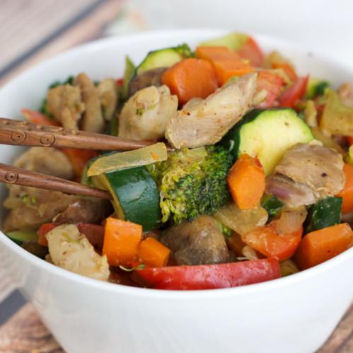 Chicken Stir-Fry with Paleo Almond Satay Sauce 2