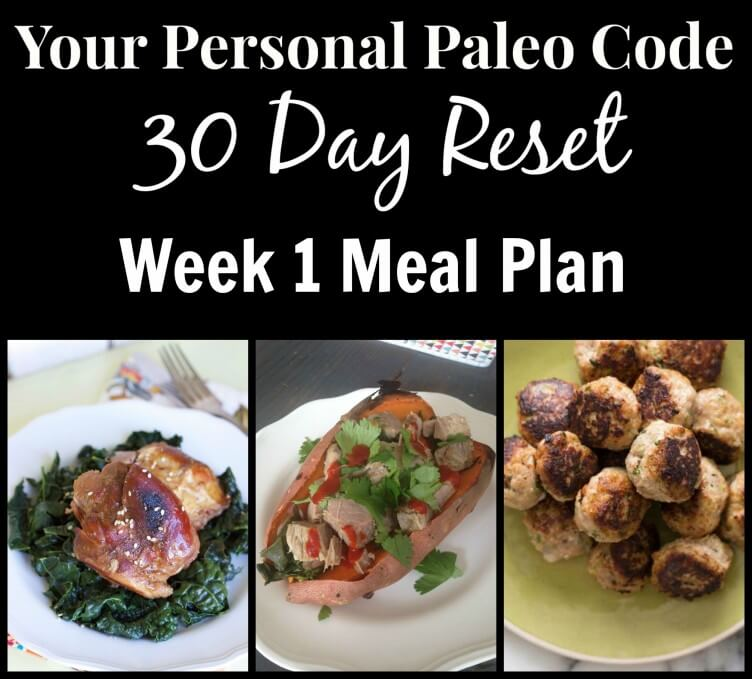 personal paleo meal plan