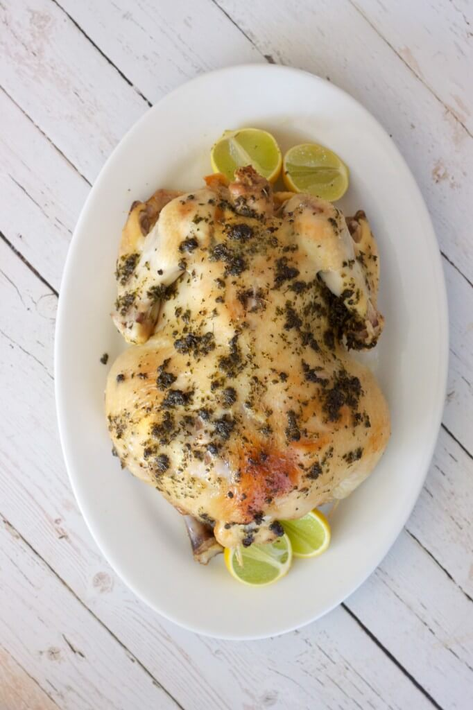 Paleo Slow Cooker Lemon Herb Chicken