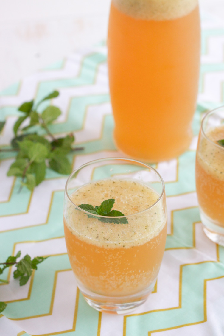 Cantaloupe and Mint Kombucha