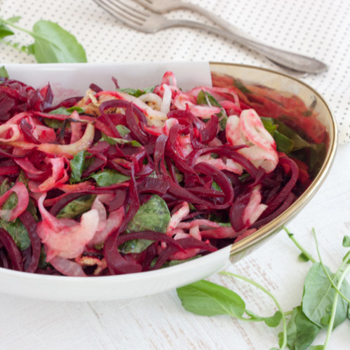 Warm Beet, Kohlrabi and Watercress Salad