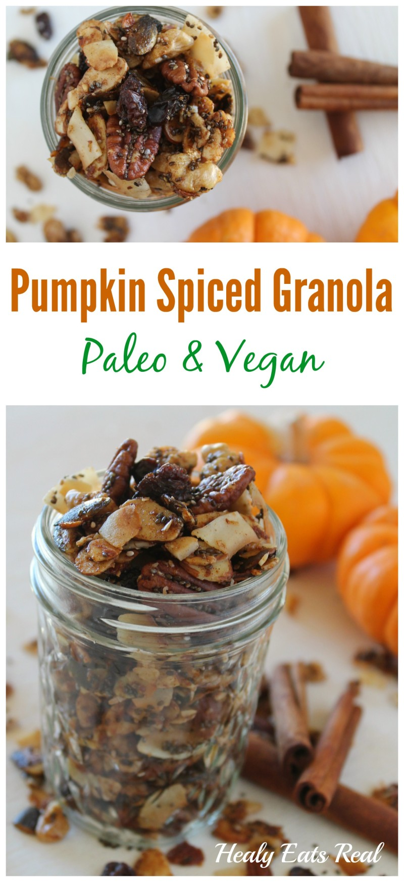 Paleo Pumpkin Spiced Granola -  top view