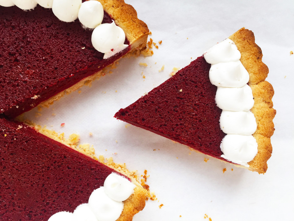 Beetroot Pie with Vanilla Creme from Greens of the Stone Age