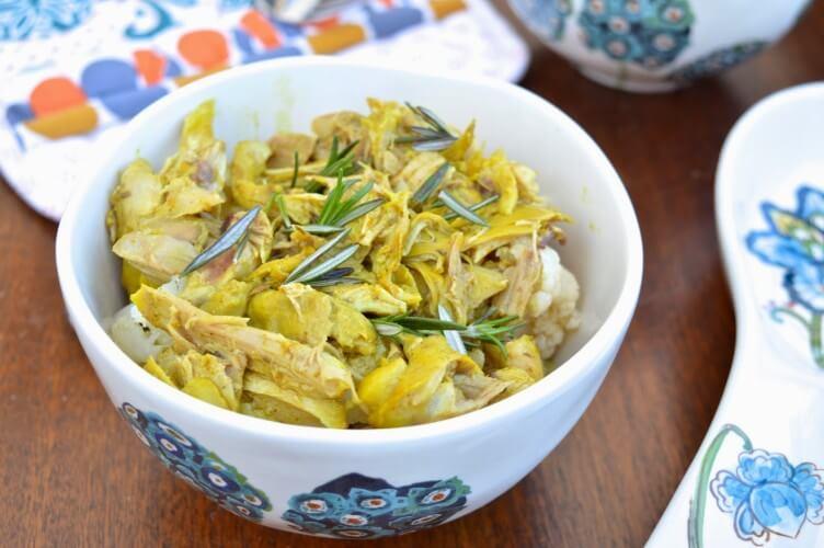Paleo Curried Lemon Coconut Chicken (Paleo, GAPS, SCD)