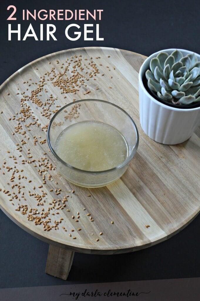 2 ingredient flax seed hair gel - vertical