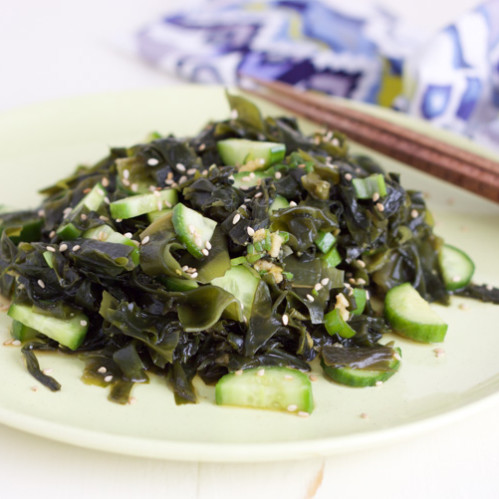 Cucumber and seaweed salad