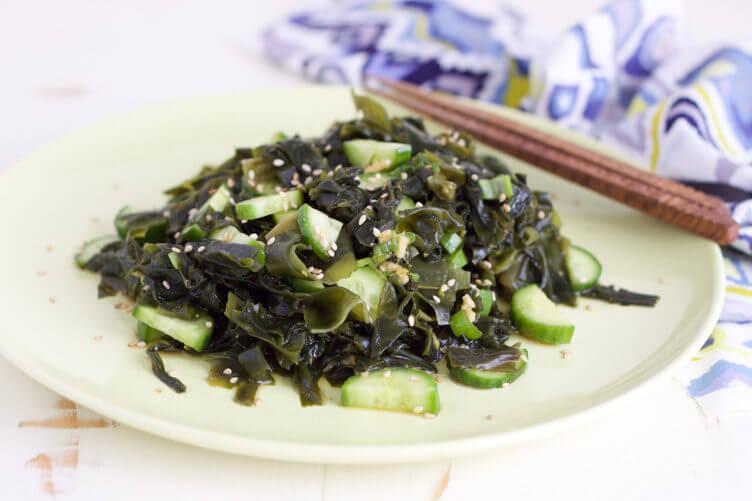 Cucumber and seaweed salad