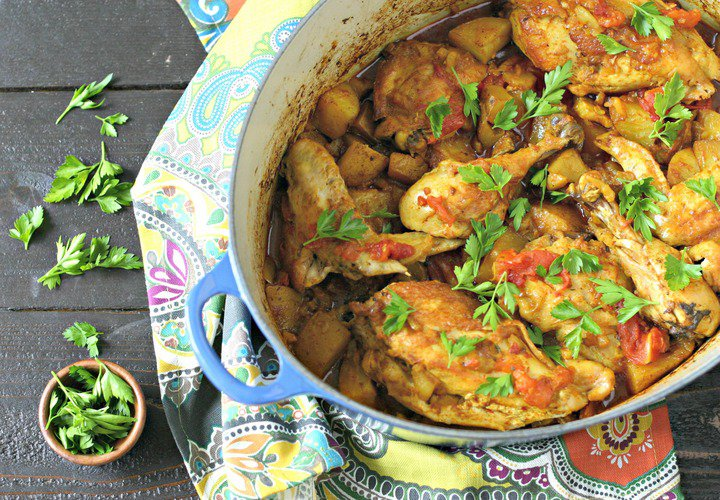 One Pot Turmeric Chicken with Vegetables from Everyday Maven