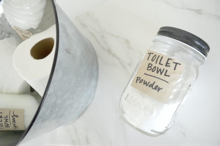 DIY Toilet Bowl Cleaners - powder blend
