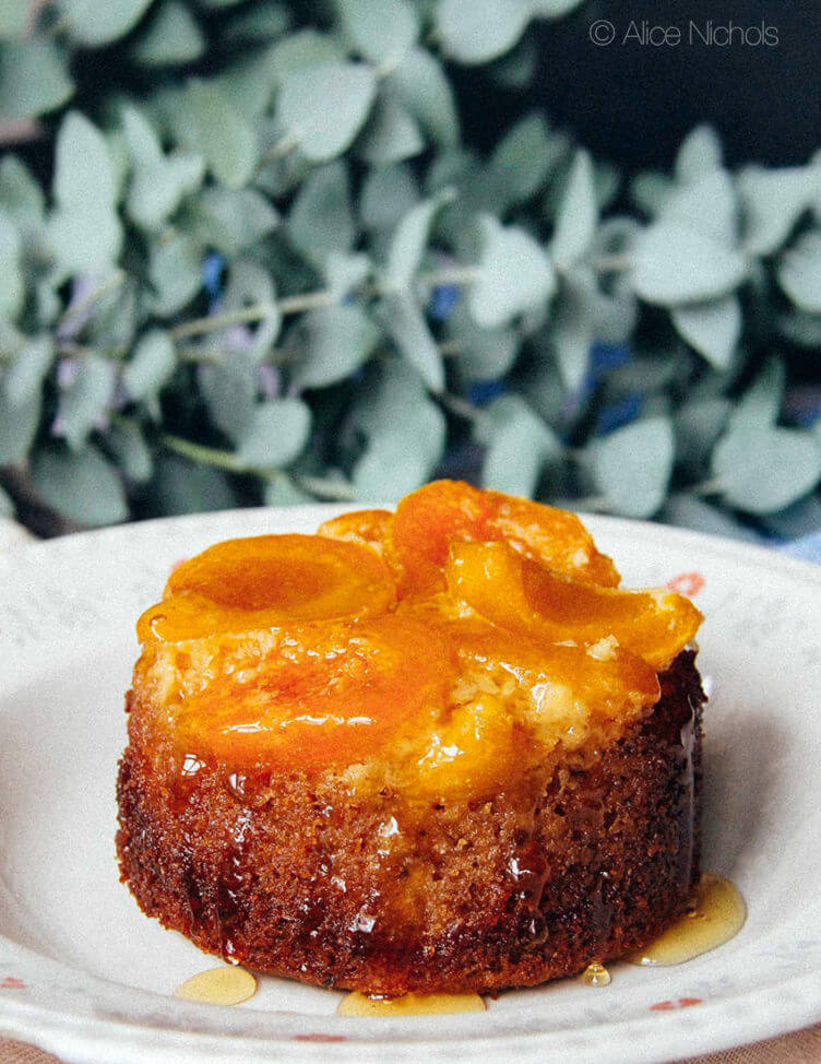 Flourless Apricot Upside-Down Cake