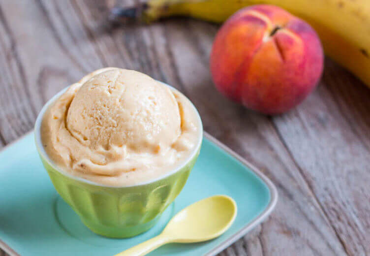 QUICK AND EASY PEACH SORBET