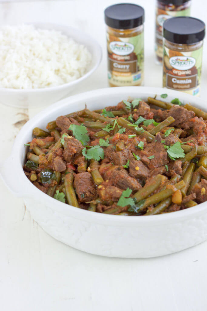 Spicy Grass-fed Beef Curry with Green Beans