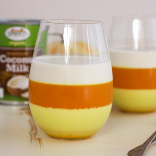 Paleo Candy Corn Panna Cotta