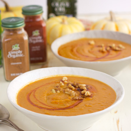 Paleo Curried Persimmon and Sweet Potato Soup - Rubies & Radishes