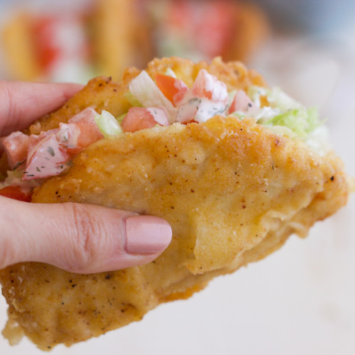 Fried Chicken Taco Shell | Rubies & Radishes