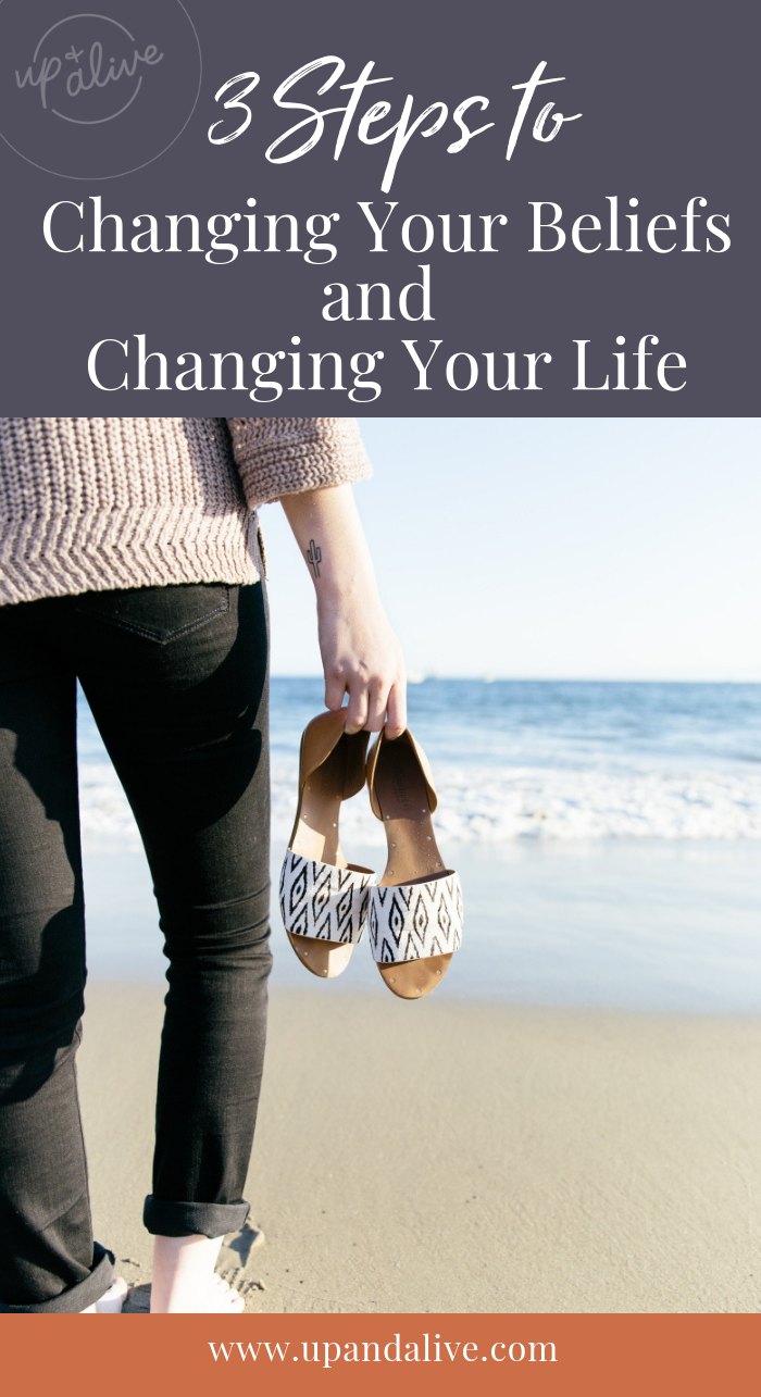 Showing up is the hardest part, but once you start moving, momentum begins & we feel our strength build. Here are steps on how to start changing your life! #upandalive #beliefs #changingyourlife #mindfulness