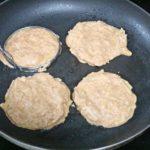 Paleo apple pancake prep