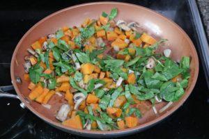 Sweet potato hash in process image