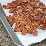 Cajun Pecan recipe in process image