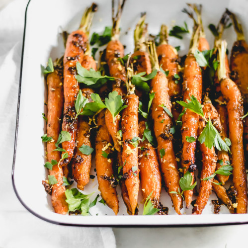Honey Za'atar Roasted Carrots
