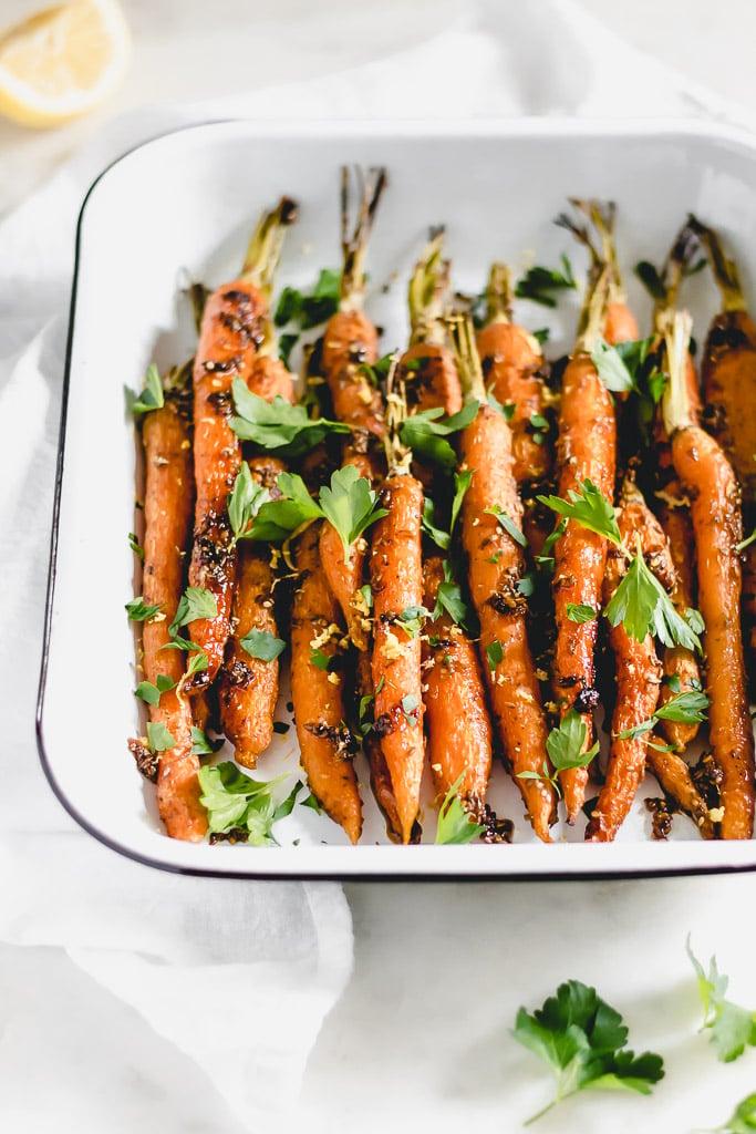 Honey Za'atar Roasted Carrots