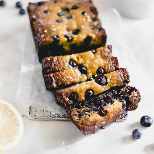 Grain-free lemon blueberry bread