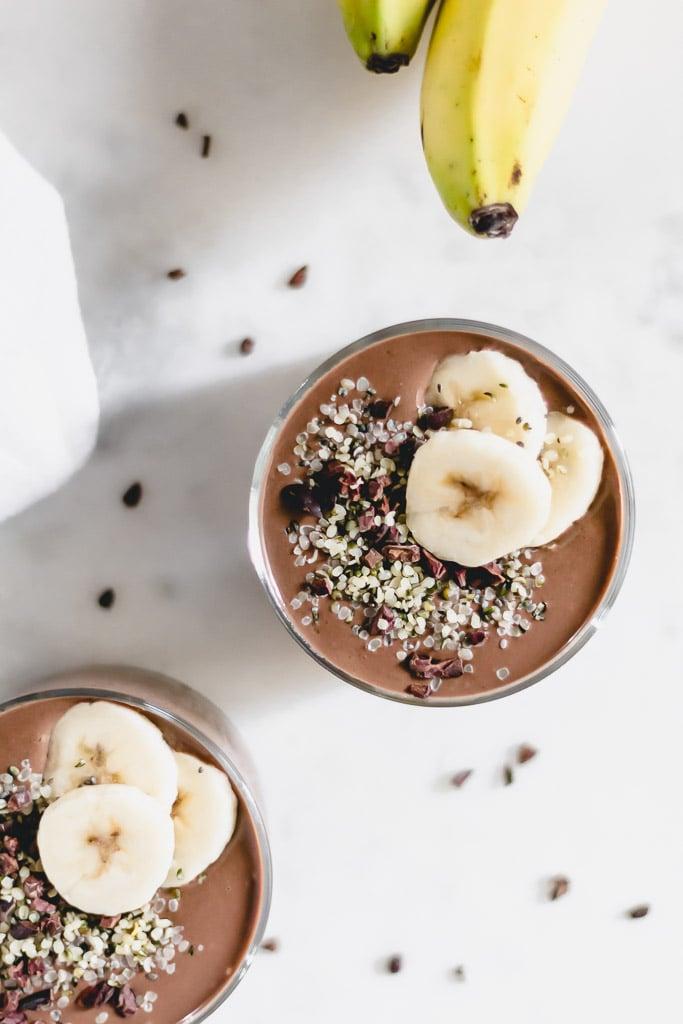 Healthy Chocolate Sunbutter Banana Smoothie