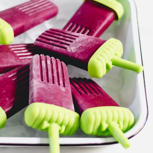 Dairy-Free Blueberries and Cream Popsicles