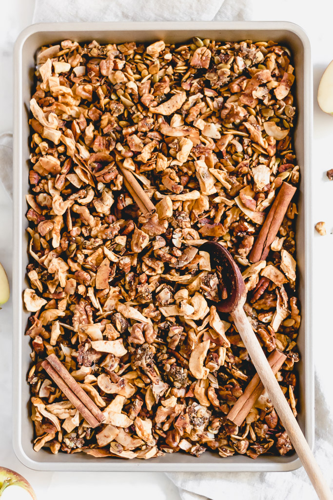 Grain-free apple spice granola